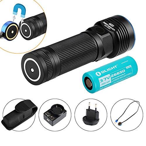 Olight R50 Pro Seeker - Lampe Torche LED Rechargeable Puissante 3200 Lumens CREE XHP70 15600 candelas Mode Turbo Stroboscopique Grande Autonomie (R50 Pro)