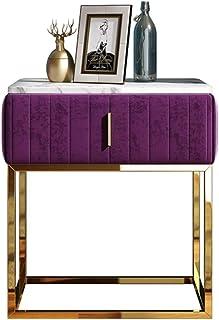 JD Table de Chevet, Table de Meuble de Rangement pour lit Pliant Souple, lumière, Minimaliste Moderne, Petite Chambre à Co...