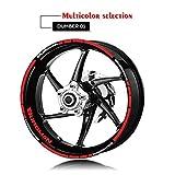 Motocicleta Parte Posterior del Frente del Borde de la Rueda Reflectante Etiqueta de neumático...