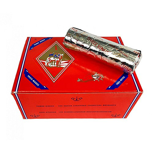 Three Kings Hookah Charcoal Box 40mm 100 Pieces
