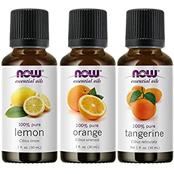 3-Pack Variety of NOW Essential Oils  Citrus Blend - Orange Tangerine Lemon