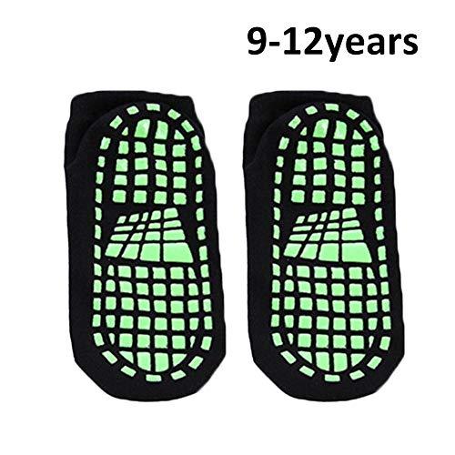 Anti-Skid-Socken Rutschfeste Sportsocken Trampolin-Socken Erwachsene Kinder Polyester-Baumwolle Komfortable Tragegriffe für Yoga, Pilates, Barre, Ballett und Mutterschaft
