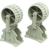 Inflatable Boat Launching Wheels,Marine Flip-up Dinghy Wheels Nylon Ribs Towing Wheels for Boat Trailer Trolly (I Pair)