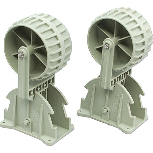 Inflatable Boat Launching Wheels,Marine Flip-up Dinghy Wheels Nylon Ribs Towing...