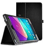 Verizon ASUS ZenPad Z8s Case, Poetic Professional Synthetic Leather Stand Folio Case, Auto Sleep/Wake, Corner Protection, Slim Profile, ZT582KL ASUS-P00J 4G LTE Tablet (2017 Released), Black