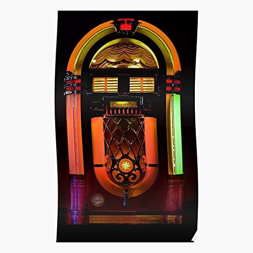 THEBO Roll Boxes Jukebox Wurlitzer Rock and Music Geschenk für Wohnkultur Wandkunst drucken Poster 11.7 x 16.5 inch