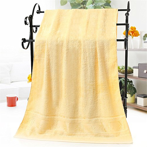 Bamboo Bath Towels Clearance Prime Yellow, 27' x 55' Luxury Hotel & Spa Bath Sheets Absorbent and Eco-Friendly