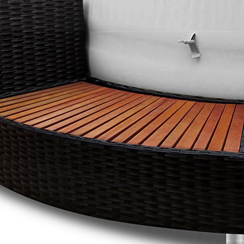 XXL Whirlpool Umrandung Polyrattan Pool Rahmen Verkleidung Poolumrandung - 6