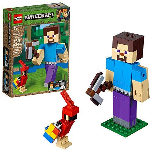 Lego Minecraft Minecraft Bigfig Steve Com Papagaio 21148 Lego Diversas