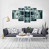 CVBGF impresión en Lienzo Personalizado 5 Piezas de Lienzo-Set-Dental-Prints-Painting-Canvas-T-Paintings-Movie-Home-Decor-For-Living-Room, Marco de madera-200x100cm