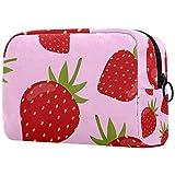 Bolso cosmético de las señoras, bolso pequeño del viaje del bolso cosmético, fresas azules