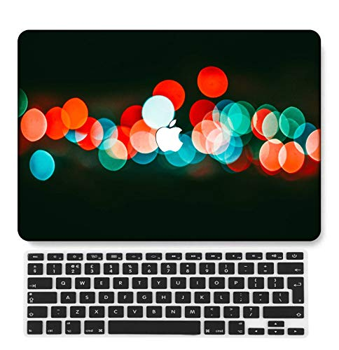 GangdaoCase Plástico Ultra Delgado Ligero Estuche RígidoDiseño Cortado Compatible 2020 Nuevo MacBook Air 13 Pulgadas con Touch ID con UK Cubierta Teclado A2179/A2337 M1 (Paisaje B 0489)