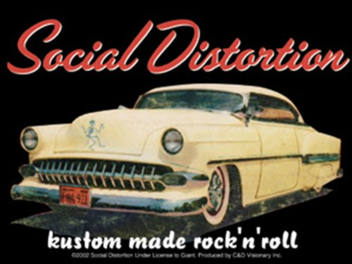 "SOCIAL DISTORTION Car, Officially Licensed Original Artwork, 3.8"" x 5"" - Long Lasting Sticker Aufkleber DECAL"
