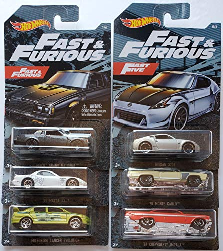 Hot Wheels Fast & Furious Set 6 Modelle 2019 in 1:64 GDG83