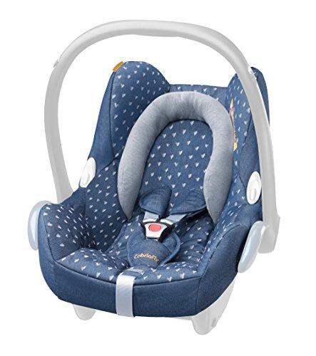 Maxi-Cosi - Funda para silla de coche CabrioFix azul azul vaquero a corazones