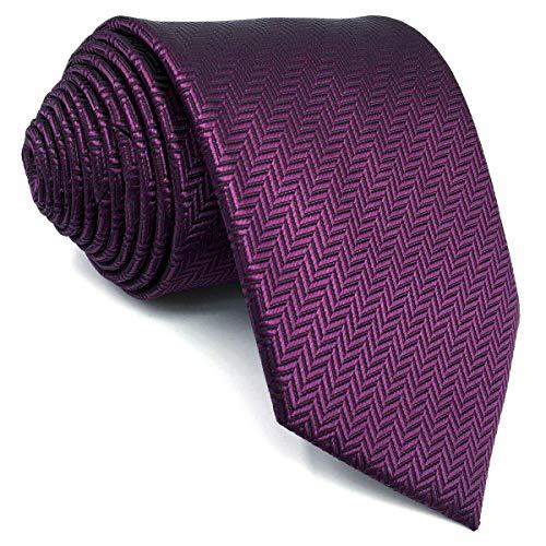 shlax&wing Color Sólido Morado Grape Corbatas Para Hombre Dress Traje de negocios Corbata Flaca