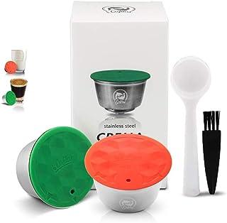 i Cafilas 1 Capsule de Café Dolce Gusto Réutilisables, avec 1 Dosettes de Lait Rechargeables Compatibles avec Machine Nesc...