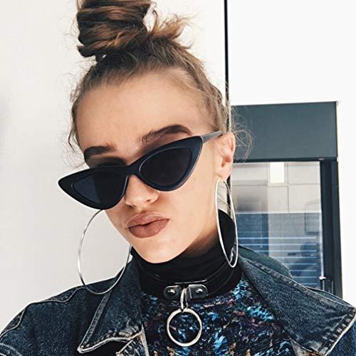 KinshopS Gafas de sol vintage Triangle Cat Eye para mujer, gafas de sol UV400 de viaje