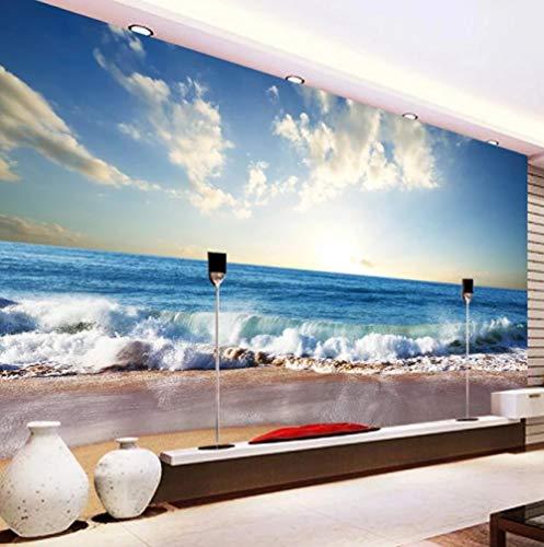 ZHEN WALLPAPER Benutzerdefinierte 3D schöne Sandy Beach Seascape Foto Hintergrund Wandmalerei für Wohnzimmer Schlafzimmer Dekor wasserdichte Wandtapete 150cmx105cm(59.1x41.3inch)