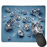 Alfombrilla de ratón Antideslizante para Juegos con Piedras Preciosas Transparentes en Panel Azul,...