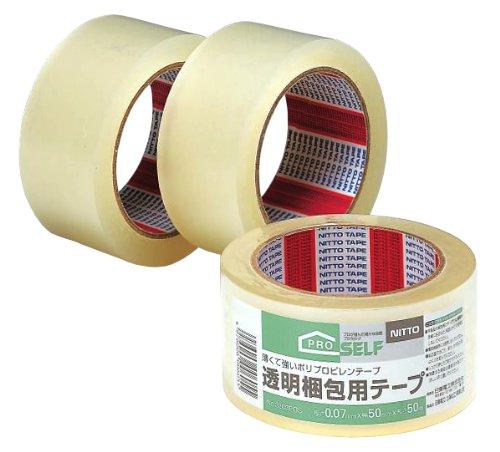 ニトムズ 透明梱包テープ 50mmx50m 50巻セット