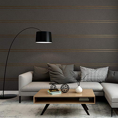 FAHOME Papel pintado simple tridimensional de pared de película y televisión 3D sala de estar dormitorio rayas ambiente sencillo TV fondo papel de pared -B