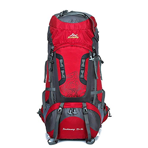 WYXIN75 L + 5 L sac à dos en plein air sac à dos étanche escalade pêche sac à dos randonnée randonnée sac de camping en plein air randonnée alpinisme sac, a