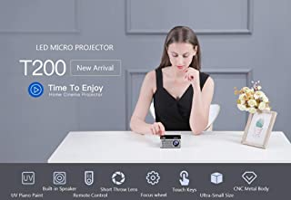 $52 » RONSHIN Ultra Mini Portable Pocket LED Projector Touch Keys HDMI USB AV Video Game Projector Beamer Support External Power Bank US plug Electronic Accessories