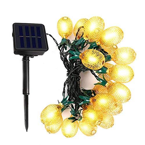 Ananas Lichterkette,3.5M 10LED Solar Metall Ananas String Lichterketten Wasserdicht Fairy Lichterketten für Indoor Outdoor Garten Terrasse Hochzeit Festliches Dekor