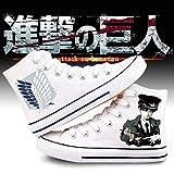 pZgfg Canvas Shoes Unisex Anime Cos Attack On Titan Eren Mikasa Ackerman Zapatillas De Lona Zapatos De Lona Zapato con Suela De Cuerda 39