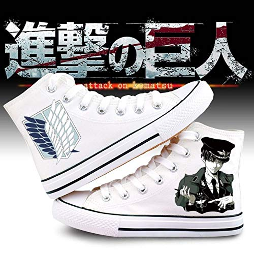 pZgfg Canvas Shoes Unisex Anime Cos Attack On Titan Eren Mikasa Ackerman Zapatillas De Lona Zapatos De Lona Zapato con Suela De Cuerda