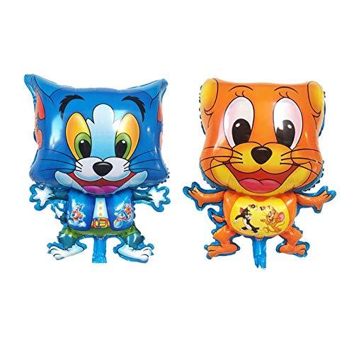 XL Helium Folienballon Tom und Jerry Maus Braun Mäuschen Blau Katzen Spiele Deko