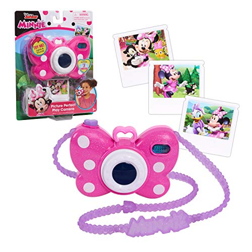 Minnie Mouse Disney Junior Picture Perfect Camera, Lights and Realistic Sounds Pretend Play Toy Camera for 3 Year Old Girls by Just Play