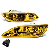 Pair of Amber Lens Bumper Driving Fog Lights+Wiring Kit+Switch Replacement for Camry 02-04 Corolla 05-08 Solara 02-03
