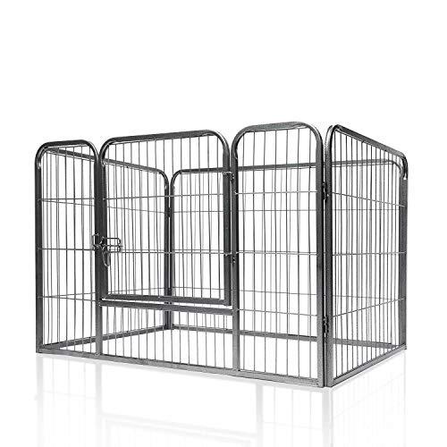 Unbekannt X-Treme Puppy Welpenfreigehege XL mit Tür für drinnen & draußen – Laufstall für Welpen, Kaninchen & kleine Haustiere