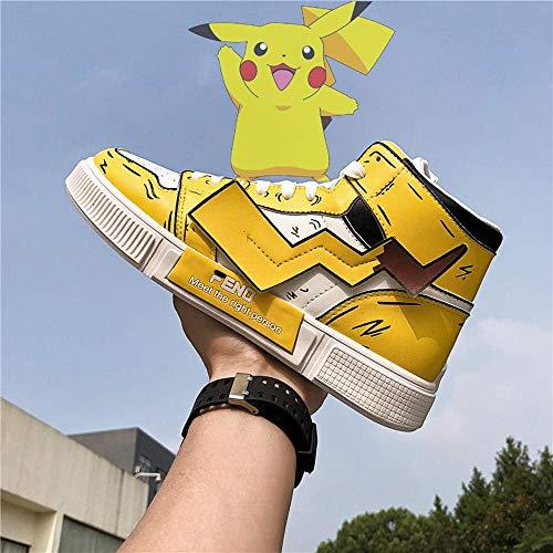 Pokémon Herren Sportschuhe Studenten Schuhe Hoch-Spitze Schuhe Tide Breathable Sommer Klein Pokémon Yellow-41