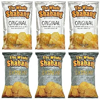 The Whole Shabang Potato Chips - 6 oz. Bags (Variety Pack of 6) (3 Original, 3 Extreme)