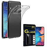 ANNART Coque pour Samsung Galaxy A20E 5.8' SM-A202F, Coque Silicone Gel Souple Ultra Fine + 2 Films...