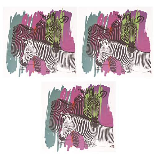 Exceart 3 Stks Warmteoverdracht Vinyl Opstrijkbare Warmteoverdracht Vinyl Sticker Ambachtelijke Zebra Patroon Ontwerp Blad Voor Ambachtelijke Diy Decor