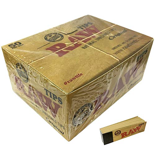 100% Raw Original Tips 50 Boîte de 50 Paquets Gardon Complet Boîte 50 par Carnets