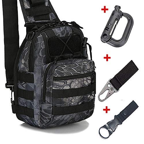 XZYC Sac à bandoulière en Plein air Sac ࠠ Dos Utilitaire Voyage Trekking Chasse Camping Randonnée 600D 3 Crochets