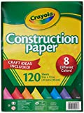 Crayola Construction Paper, 8 different colors, 120 Sheets