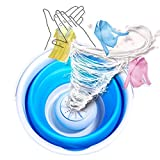 CNSSKJ Portable Mini Tub Washing Machine,Foldable Personal Compact Ultrasonic Turbines Rotating Washer,USB Powered Convenient Laundry for Camping Dorms Business Trip College Rooms