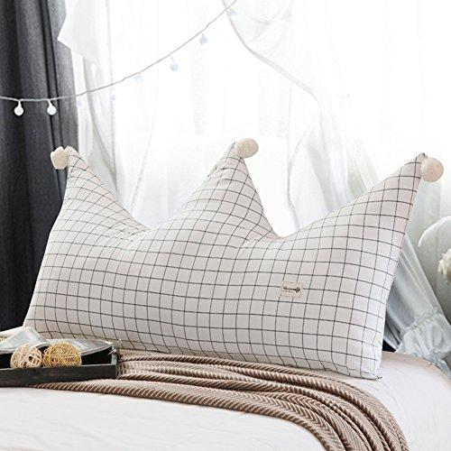 HTDZDX Cojín de respaldo para la cama Cojín para la cama infantil Respaldo de la corona Cama doble individual Almohadillas de la cintura Bolsa para la cabecera de la princesa, lavable extraíbl