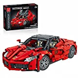 LTGO Modelo de bloques de construcción para Ferrari LaFerrari, 1702 piezas, modelo de coche de carreras 1/12 Superauto compatible con Lego Technic