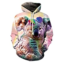2021 3D Printed Men/Women Hooded Hoodies Rainbow Cat Space Galaxy Sweatshirts With Hat Autumn Winter Fashion Pullover Hoody Tops