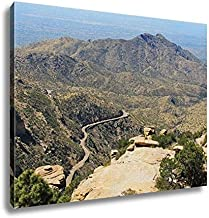 Ashley Canvas, View Towards Tucson Of Winding Road From Windy Point On Mount Lemmon In Tucson, 24x30, AG6550048