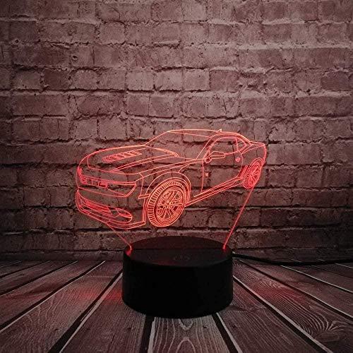 Tatapai Luz nocturna 3D con ilusión nocturna para niños y niñas, juguete de luz nocturna LED, USB, lámpara de mesa para dormitorio, decoración, regalo de cumpleaños, Navidad