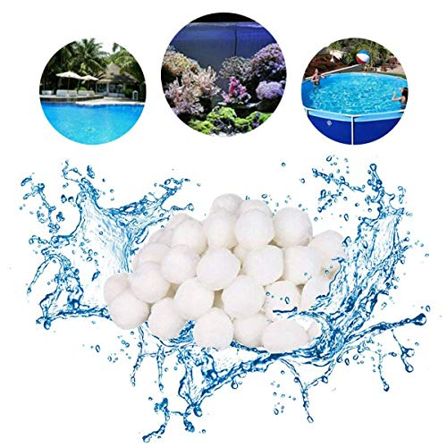 700g Filter Balls Poolfilter Pool Filterkessel Sandfilter rsetzen 20kg Filtersand Quarzsand Pool (Weiß)