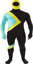 Orion Costumes Mens Jamaican Hero Bobsleigh Skin Suit Team Fancy Dress Costume Black
